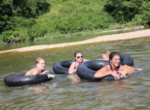 Friends tubing the Methow River