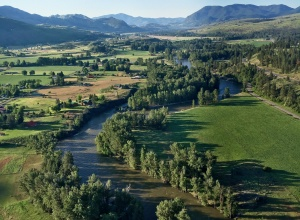 Aerial view of Methow Valley